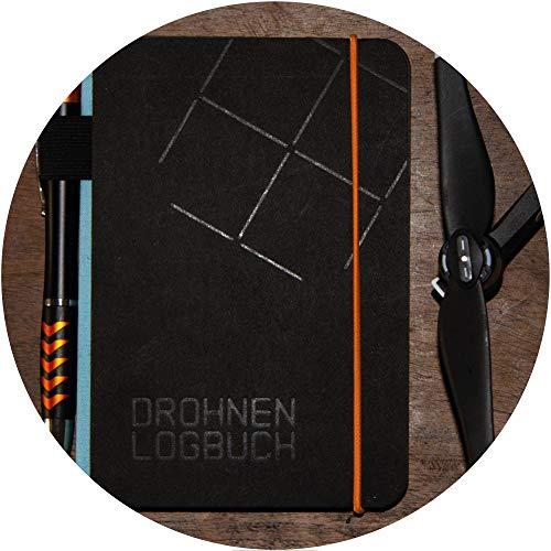 Roboterwerk Libro de registro de dron, encuadernado, 144 páginas con lápiz táctil y mapa de piloto (piloto)