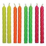 PME CA035 Lot de 24 Bougies, Plastique, Multicolore, 0,5 x 0,5 x 5,9 cm