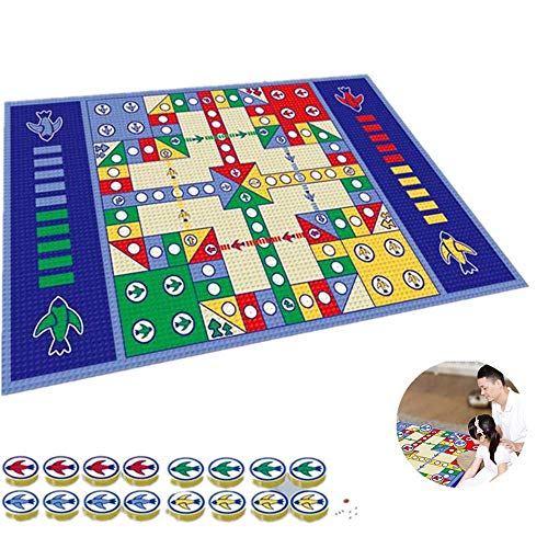 Flying Chess,Family Party Board Game, Baby Crawling Playing Mat Educational Kids Toy,for Parent-Child Game.70.8 * 47.2in