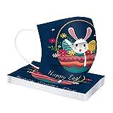 10/20/30/50/60/100 pc Unisex Ostern Kinder Schal - Universal Fashion Cute Print 3 𝓼𝓬𝓱𝓲𝓬𝓱𝓽𝓮𝓷 komfortable elastische Earloop Schal für Tagesparty im Freien - 10121-7