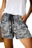 ONLYSHE Women's Camouflague Print Workout Running Athletic Shorts with Pockets S