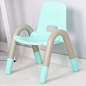 LIANGJUN Table Chair Sets For Kids Children s Mini Gaming Room Toy Plastic Learn Smooth Safety  Sturdy  Colors  Color Green  Size