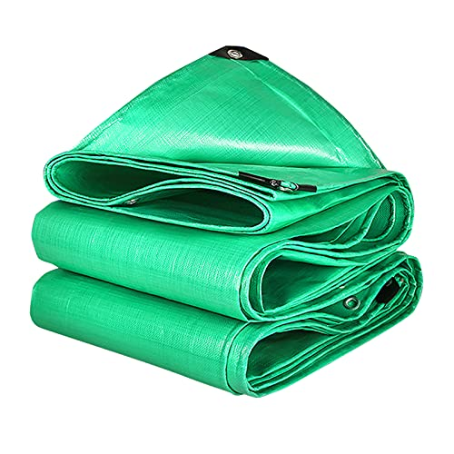 Plastico Lona Impermeable Verde, 160g / m², Toldo Reforzado Con Perforaciones, Apto Para Pérgola/Camping/Piscina/Pergola Jardin Exterior (5x6m/16.4x19.7ft)