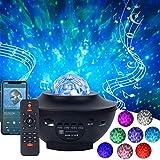 Proyector de Luz Estelar Lámpara Proyector Estrellas con Control Remoto y Altavoz Bluetooth para Decoración de fiestas...