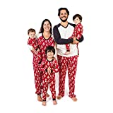 Burt's Bees Baby Family Jammies, Holiday Matching Pajamas, 100% Organic Cotton PJs, Festive Forest, Mens X-Large