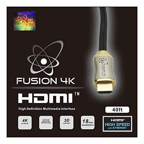 Fusion4K High Speed 4K HDMI Cable (4K @ 60Hz) - Professional Series (40 Feet) CL3 Rated