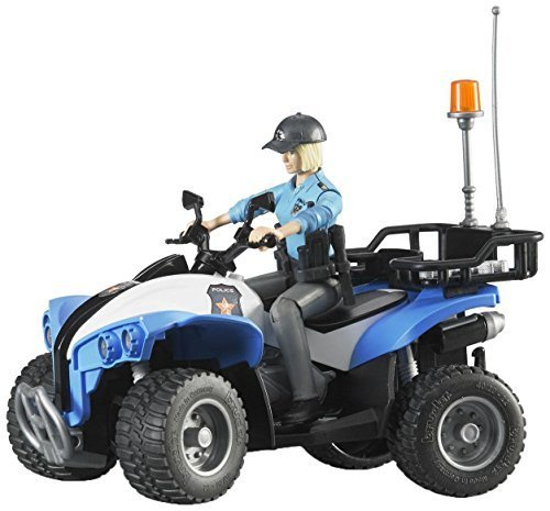 Bruder Quad with Policewoman & Accessories by Bruder