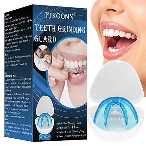 Protector dental, Kit de Protección Dental, Anti bruxismo, Ferula dental para bruxismo, Protector Bucal Cuidado Dentadura Ferula Dental,Férula Dental de Descarga 4PC