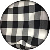 5 Yards Checker Fabric- Washable | 60' Wide Black and White Buffalo Gingham Table Cloth Fabric | for Tables, Drapes, Curtains, Runners, Everyday Use and Special Events