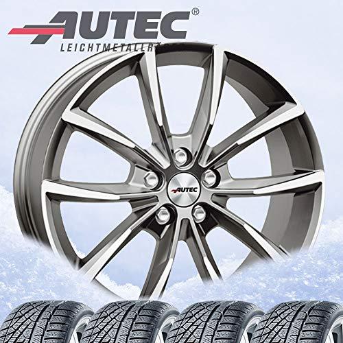 4 ruedas de invierno Autec Astana 8x18 ET44 5x112 Titansilber pulidas con 225/50R18 99V XL Continental WinterContact TS 850P FR para CUPRA (Seat) Ateca /2020/