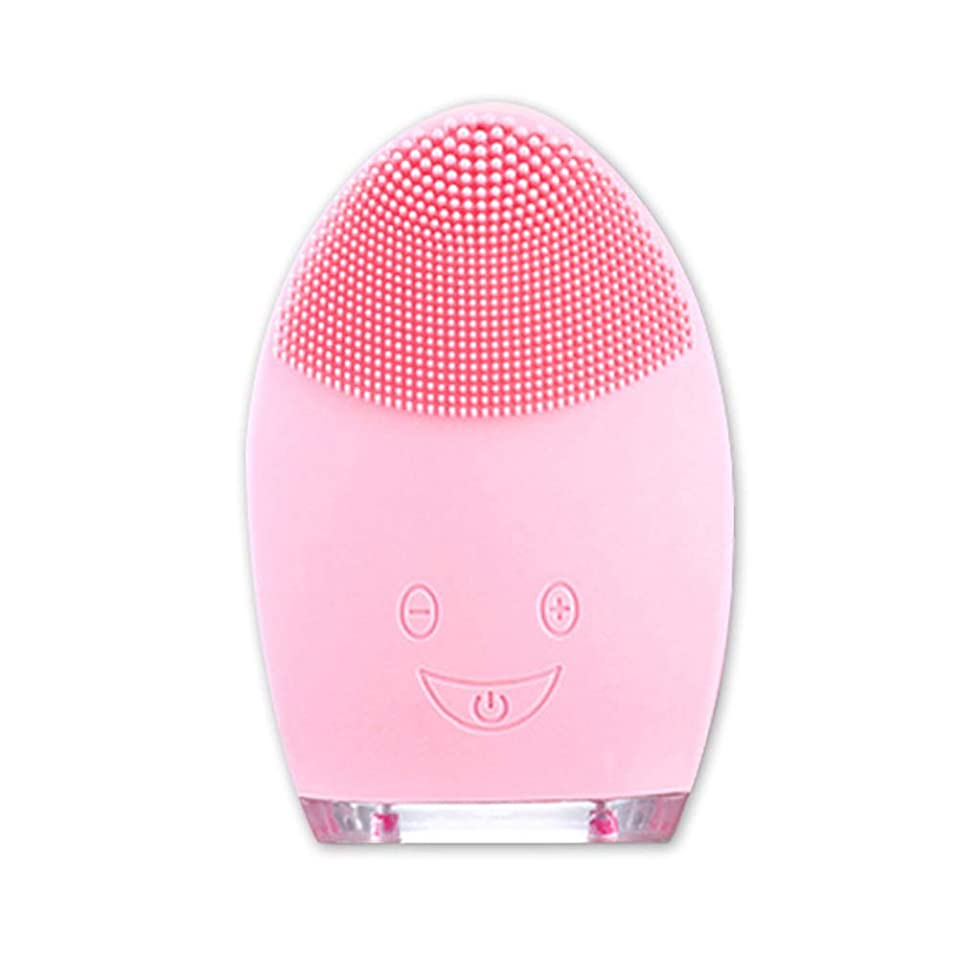 置き場安定しましたインディカ洗顔ブラシ、フェイスマッサージ、角質除去 ディープポアクレンジング スクラブアンチエイジング 防水USB充電式