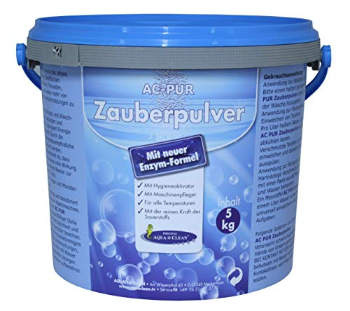 AQUA CLEAN PUR Zauberpulver Waschkraftverstärker mit extra Flecklösekraft 5kg