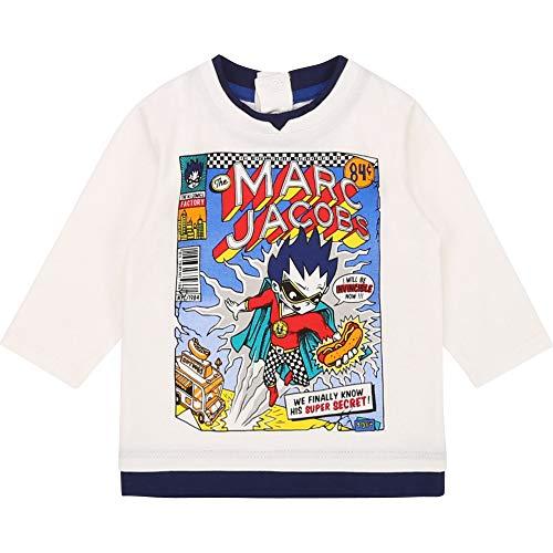 Little Marc Jacobs Langarm T-Shirt BABYAUSSTATTUNG GEBROCHENES Weiss 09M