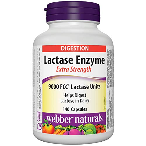 Webber Naturals Lactase Enzyme Extra Strength 140 Capsules