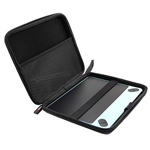 AONKE Hart Reise Fall Case Tasche für Wacom Intuos Art Small CTH-490AK-S CTH-490CK-S CTH-490PK-S 4100 WLK-N CTL-490DW-S Grafik-Tablett (Schwarz)