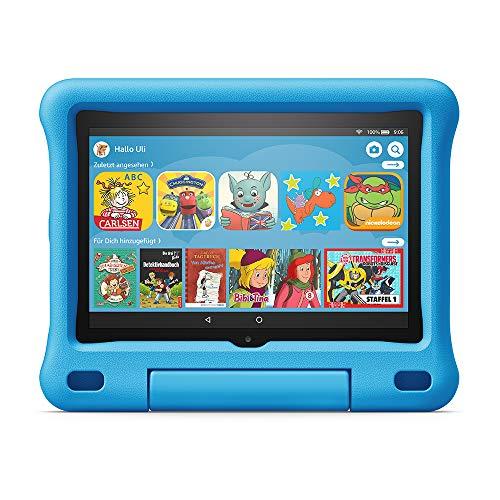 Kindgerechte Hülle für Fire HD 8-Tablet | Kompatibel mit der 10. Generation (2020), Blau