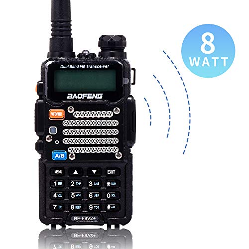 Purchase BaoFeng Two Way Radio,8-Watt Dual Band Radio with LED Display,Portable Walkie Talkies Inclu...