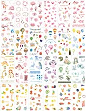 Cute Stationery Sticker Set (Assorted 24 Sheets) Flower Balloon Kawaii Girl Food Bottle Drink Snack Sticker Scrapbooking Travel Journal Diary Book Album Decorative Label Office Supplies