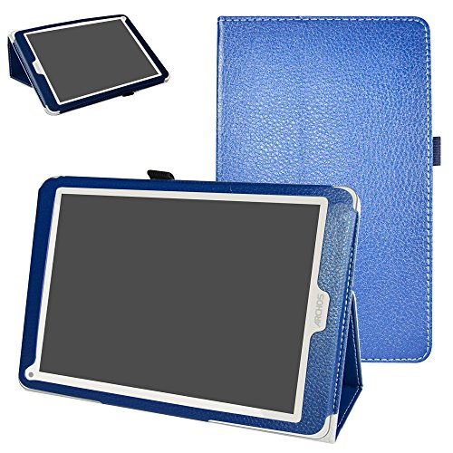 Mama Mouth Archos 97C Platinum Funda, Slim PU Cuero con Soporte Funda Caso Case para 9.7' Archos 97C Platinum Android 6.0 Tablet PC,Azul Oscuro