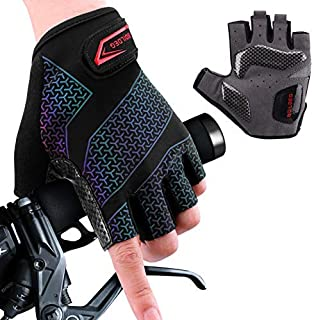 boildeg Cycling Gloves Bike Gloves Mountain Road Bike Gloves Gradient Anti-slip Shock-absorbing Pad Breathable Half Finger...
