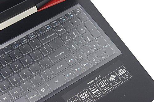 Leze - Ultra Thin Soft Keyboard Protector Skin Cover for Acer Aspire VX 15 VX5-591G, Aspire V15 VN7-593G,Predator Helios 300,Aspire V17 VN7-793G,Nitro 5 Gaming Laptop AN515 Gaming Laptop - TPU