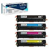 LCL 125A CB540A CB541A CB542A CB543A 4Pack KCMY Cartucho de Tóner Remanufacturado Reemplazo para HP Color laserJetCP1213/CP1214/CP1215/CP1216/CP1217/CP1513n/CP1514n/CP1515n/CP1516n/CP1517ni/CP1518ni