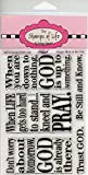 Christian Sentiment Stamps for Card-Making and Scrapbooking Supplies by The Stamps of Life - Life2Hard Phrases