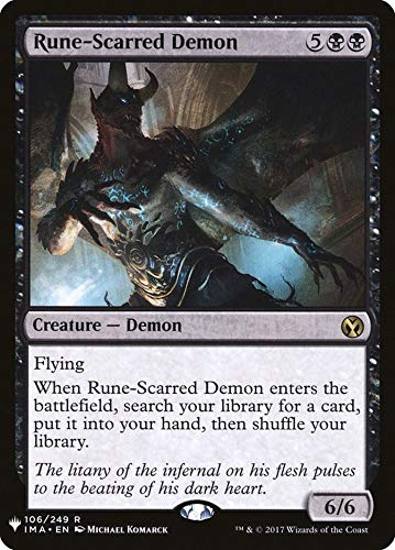 Magic: The Gathering - Rune-Scarred Demon - Mystery Booster - Iconic Masters