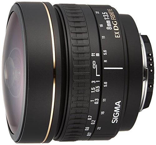 Sigma 8 mm F3,5 EX DG Zirkular Fisheye-Objektiv (Gelatinefilter) für Nikon Objektivbajonett