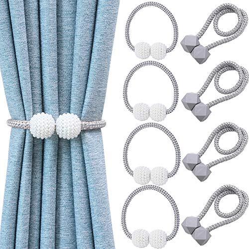 XGOGOP 8pcs Magnetic Curtain Tiebacks,Decorative Curtain Holdbacks,Curtain Tiebacks,Curtain Holder,Curtain Ties,Decorative Drape Tie Backs