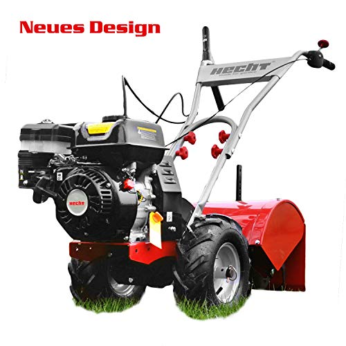 HECHT Benzin-Gartenfräse 750 Motorhacke Kultivator Bodenhacke Bodenfräse Fräse (Motorleistung: 4,7 kW (6,5 PS), 50 cm Arbeitsbreite, 4 Kreisel mit je 3 Messern)