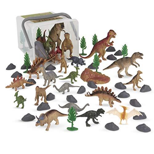 Terra by Battat – Prehistoric World – Assorted Miniature Dinosaur Toys & Accessories for Kids 3+ (60 Pc)