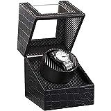 WENZHE Caja para reloje Reloj Automático Bander Bander PU Cuero Auto Bobinado Mecánico Mostrar Almacenamiento para Hombres Y Mujeres Relojes