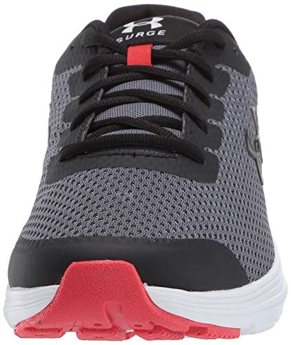 Under Armour Men's Surge 2 Running Shoe, Pitch Gray (100)/White, 9
