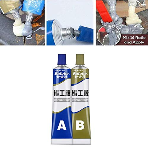 2 juegos 4 piezas de pasta de reparación de metal de soldadura fría de resistencia al calor industrial (100 g/juego)