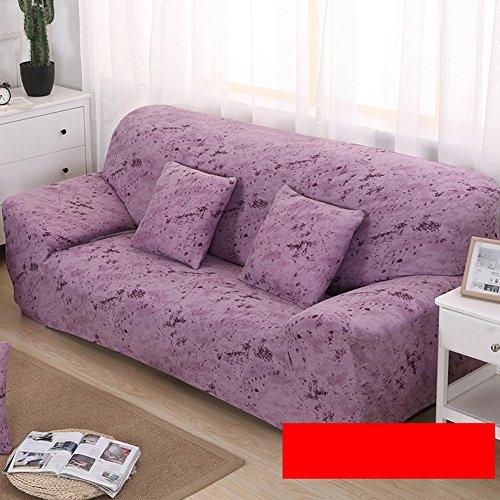 HOME-SOFA COVER Sommer Stretch sofabezug,All-in-one Elastische möbel beschützer für Hund Kinder -Leichte Bohnenpaste 2-sitzer