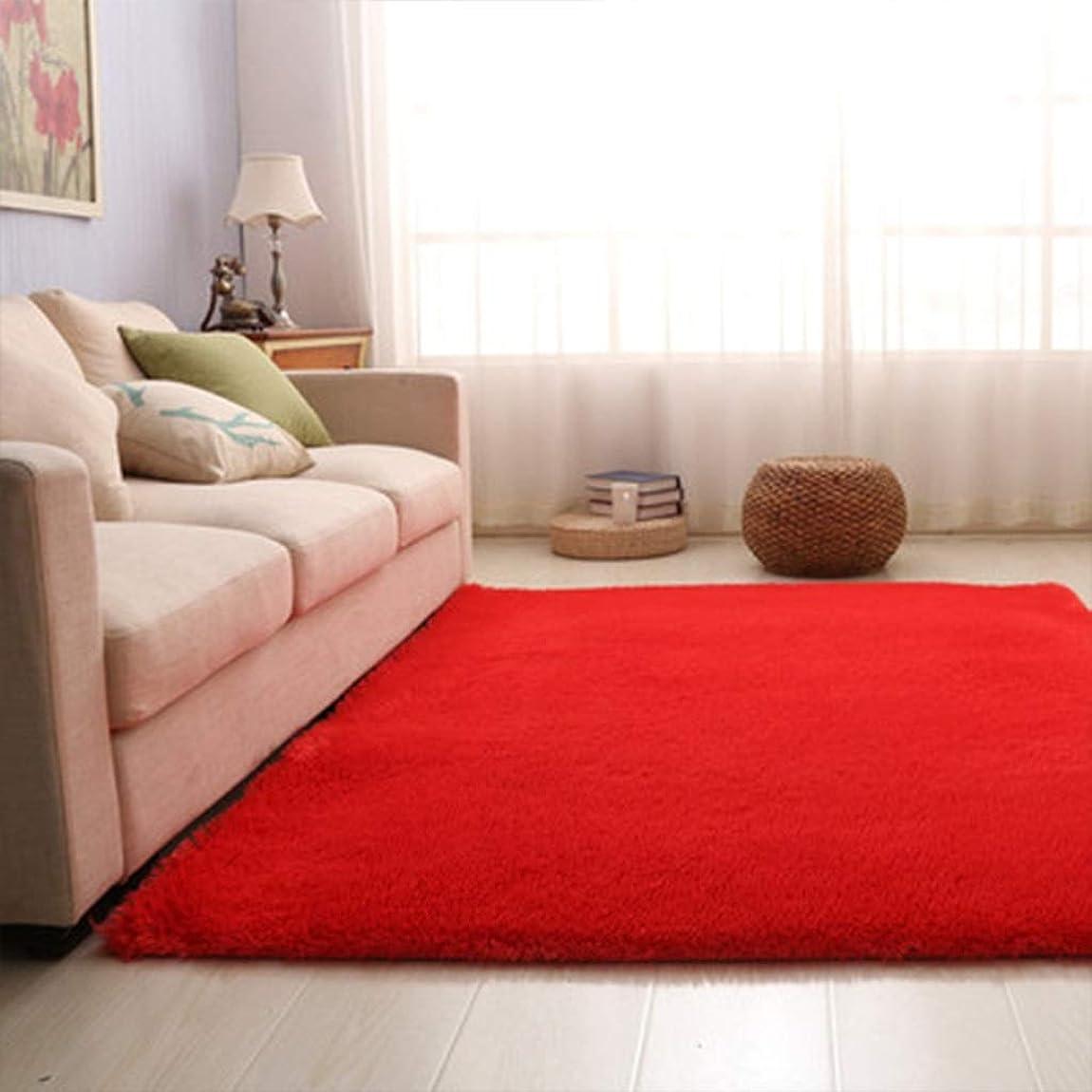 モットー姿勢専門RBZCCP 洗えるカーペットのリビングルームのソファかわいい家の畳 (Color : Red, Size : XL)