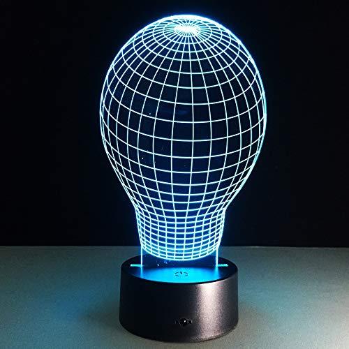 La Bombilla 3D Lámpara De 7 Colores Chang Pequeña Luz De Noche Para Bebés Altavoces Bluetooth Luces Led Con Usb Lámpara De Escritorio Lámpara De Lectura Para Dormitorio