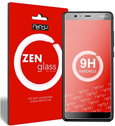 ZenGlass [2 Stück Flexible Glas-Folie kompatibel mit Nokia 5.1 Panzerfolie I Bildschirm-Schutzfolie 9H I (Kleiner Als Das Gewölbte Bildschirm)