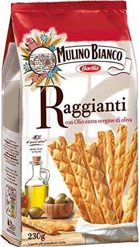 Mulino Bianco Grissini Raggianti con Olio Extravergine d'Oliva, Snack Salato per la Merenda, senza Olio di Palma - 230 gr