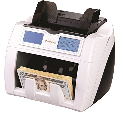 Contador de Billetes Profesional CARNATION CR2 con Detección Triple de Notas Falsas UV MG IR Pantalla TáctilHasta 1500 notas/Minuto