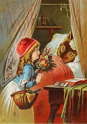 VGFTP Puzzel 1000 stukjes, houten puzzel, kinderpuzzel voor volwassenen Kinderen cadeaus Woondecoratie - Roodkapje cartoon