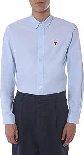 AMI ALEXANDRE MATTIUSSI Luxury Fashion Mens P20HC01345454 Light Blue Shirt |