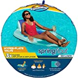 SwimWays Spring Float Recliner Pool Lounger with Hyper-Flate Valve, Inflatable Pool Float, Teal
