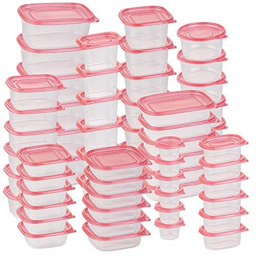 Rosenstein & Söhne Gefrierdosen: 120-teiliges XXL-Frischhaltedosen-Set BASIC, BPA-frei (60 Dosen) (Dosenset)