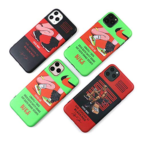 iPhone Gracioso Antigolpes Silicon Estuche Protectora, Absorción de Choque y Duradera Fundas,B,iPhone11ProMax