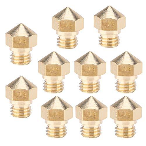 Extruder mondstuk Mk10 mondstukken M6 3D-printer messing mondstuk printkoppen voor Mk10 3D-printeraccessoires