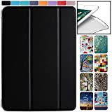 DuraSafe Cases for iPad 9.7 Inch Air 1 [ Air 1st Gen 2013 ] MD785LL/A MD788LL/A MD786LL/A MD789LL/A MD787LL/A MD790LL/A Smart Trifold Lightweight Soft Silicone TPU Back Case - Black