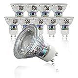 B.K.Licht 10er Set 5W LED Lampen, Leuchtmittel mit GU10 Fassung für innen, Energiesparende Birne in Reflektor-Form, 400 Lumen, 3000K warmweiss