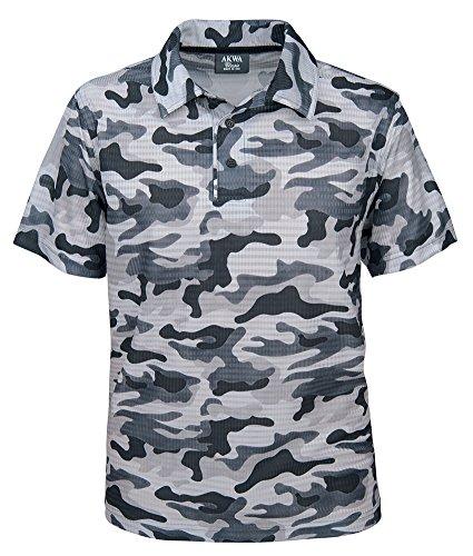 Akwa Men's Made in USA Camouflage Camo Polo Shirt...